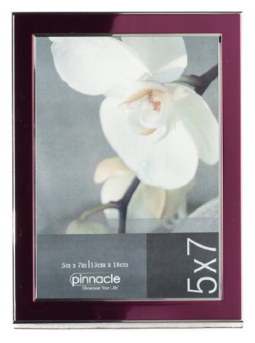 Pinnacle Frames Plum Frame with Silver Inner 5 inch by 7 ...