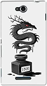 DailyObjects Ink Dragon Case For Sony Xperia C