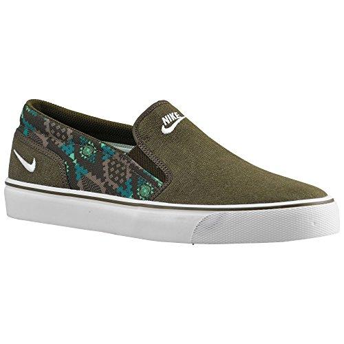 (ナイキ)Nike 08.0 Dark Loden/Bamboo/Radiant Emerald/White toki 靴 シューズ トキ slip スリッパ型 men's メンズ 男性用 - olive green グリーン / tan 【並行輸入品】