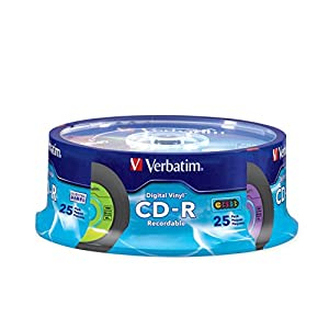 Verbatim Digital Vinyl 700 MB Multicolor CD-R Spindle 25 Discs 94488