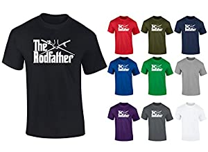 Mens The Rodfather Parody Fishing Funny FATHERS DAY GIFT T-shirt