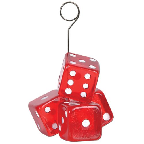 Dice Photo/Balloon Holder Party Accessory (1 count)