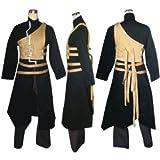 Japonés Anime Naruto Vol 2 Cosplay - Gaara cosplay traje Roja negro , tamaño XXL (altura 180-185 cm, peso 80-90 kg)