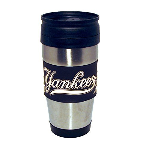 mlb-new-york-yankees-stainless-steel-travel-tumbler-with-pvc-wrap-15-ounce-team-color-by-hunter-mfg-