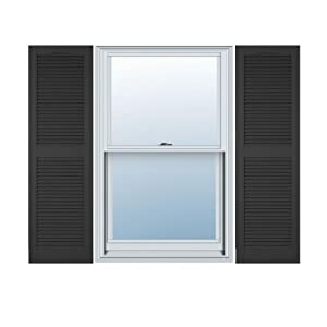 14 inch x 59 inch standard louver exterior for 14 inch window