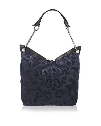 Yes Glam Bolso asa al hombro Flores Azul Oscuro