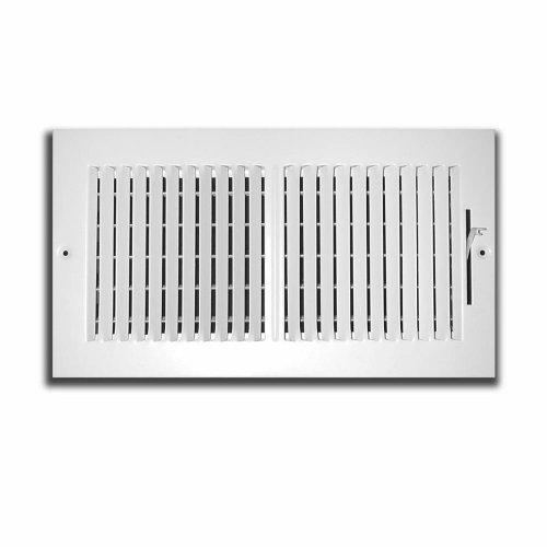 Truaire C102M 12X08(Duct Opening Measurements) 2-Way Supply 12-Inch by 8-Inch Sidewall or Ceiling Register Grille, White