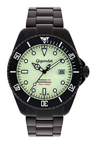 Gigandet G2-012 - Reloj para hombres, correa de acero inoxidable color negro