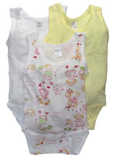 Girls Print 3-Pack of Sleeveless Onezie Bodysuits by Daydreamers - Buy Girls Print 3-Pack of Sleeveless Onezie Bodysuits by Daydreamers - Purchase Girls Print 3-Pack of Sleeveless Onezie Bodysuits by Daydreamers (Daydreamers, Daydreamers Apparel, Daydreamers Toddler Girls Apparel, Apparel, Departments, Kids & Baby, Infants & Toddlers, Girls, Shirts & Body Suits, Body Suits)