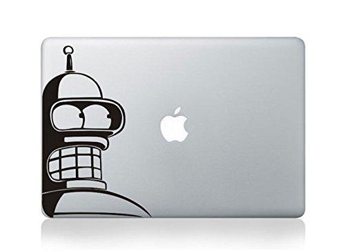Cjeremy200 Apple Macbook Pro Air Decal Sticker, Black Vinyl Skin - Bender Futurama