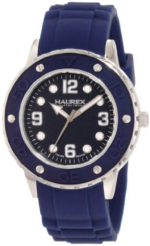 Haurex Italy Women's 1D371DBB Vivace Blue Dial Rubber Watch