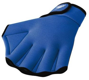 Speedo Aqua Fit Training Swim Gloves (Medium, Royal Blue)