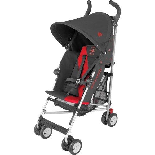 Maclaren Triumph Stroller - Charcoal/Scarlet - 1