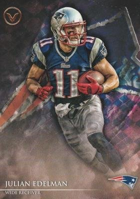 Julian Edelman football card (New England Patriots) 2014 Topps Valor #138