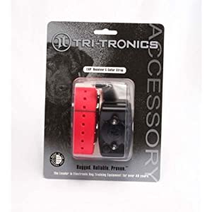 Tri-Tronics Expandable Receiver with Red Collar Strap by Tri-Tronics