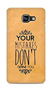 AMEZ your mistakes dont define you Back Cover For Samsung Galaxy A5 (2016 EDITION)