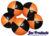 5 180G Jac Products Professional Thud Juggling Balls Orange/Black