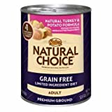 Nutro Natural Choice Grain Free Turkey & Potato Adult Canned Dog Food, Case of 12