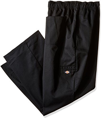 Dickies Chef Men's Unisex Double Knee Baggy Pant, Black, 5X-Large (Mens Restaurant Work Pants compare prices)