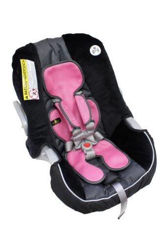 comfy breathable car seat liner with bonus shoulder pads pink baby toddler baby transport baby. Black Bedroom Furniture Sets. Home Design Ideas