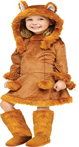 Girls Sweet Fox Kids Child Fancy Dress Party Halloween Costume