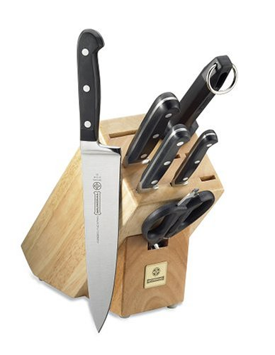 Sale Mundial 5100 Series 7 Piece Knife Set With Block Black Where To Buy Goose Df5