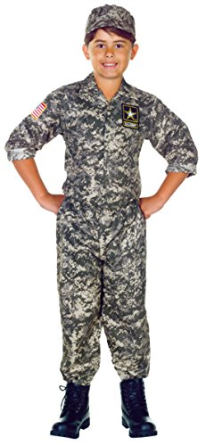 Boys U.S. Army Camo Set Kids Child Fancy Dress Party Halloween Costume