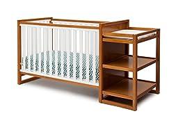 Delta Children Gramercy Convertible Crib \'N\' Changer, White/Honey
