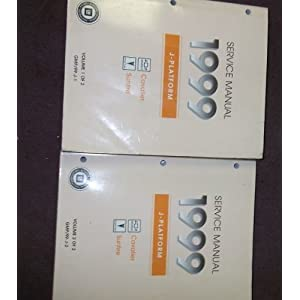 1999 Chevy Cavalier Service Shop Repair Manual Set OEM (2 volume