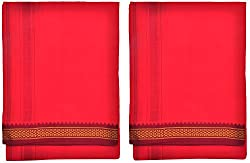 Indhirani Mens Cotton Thalapathy Dhoti - Pack Of 2