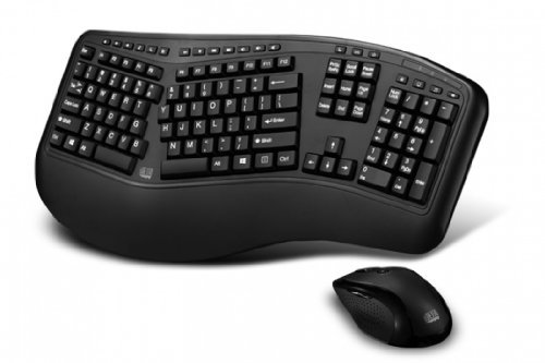 Adesso Tru-Form 1500 Wireless Ergonomic Keyboard and Laser Mouse for Win 8/7/Vista/XP/2000 (WKB-1500GB) (Natural Keyboard 7000 compare prices)