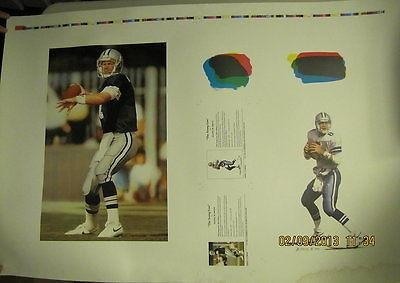 TROY AIKMAN DALLAS COWBOYS 36x24 DANIEL SMITH ARTIST PROOF YOUNG GUN LITHOGRAPH - Original NFL Art and Prints at Amazon.com