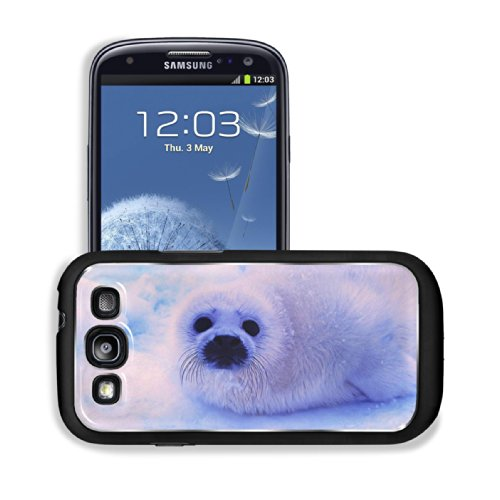 Animal Wildlife Seal Snow Cute White Furry Baby Samsung I9300 Galaxy S3 Snap Cover Premium Aluminium Design Back Plate Case Customized Made To Order Support Ready 5 3/8 Inch (136Mm) X 2 7/8 Inch (73Mm) X 7/16 Inch (11Mm) Luxlady Galaxy_S3 Professional Met front-997812