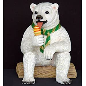 Eisbär sitzend mit Eistüte Deko