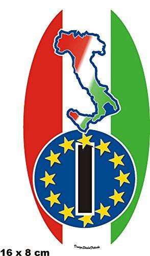 Adesivi Paesi Italia stivali 16x 8cm