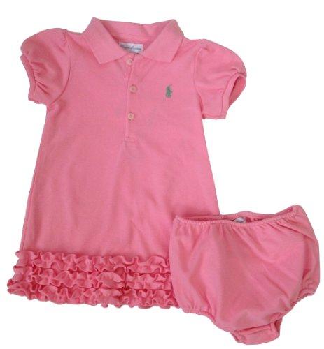 Ralph Lauren Baby Girl Short-Sleeved Ruffle Dress front-979863