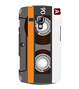 Old Musical Tape Record Cassette 3D Hard Polycarbonate Designer Back Case Cover for Samsung Galaxy S Duos S7562