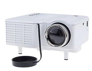 """Mini Shop Mini Multimedia Image System Home LED Digital Projector 60"""" Cinema Theater, PC Laptop VGA Input USB UC28(SD / USB / AV / VGA /HDMI Port) (White) from Mini shop"""