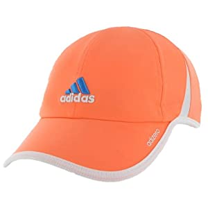 adidas Women's Adizero II Cap, Glow Orange/White/Solar Blue, One Size