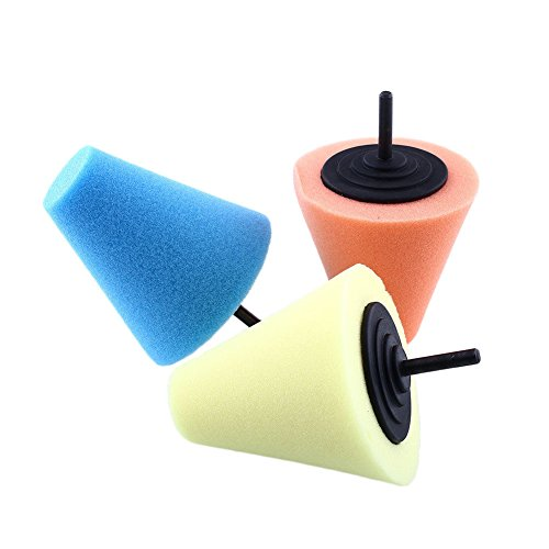 ZFE Professional Sponge Cone Metal Polishing Tool Set/Polishing pad (Drill Buffer Cone compare prices)
