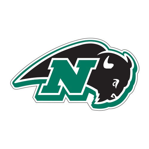 Nichols College Large Magnet 'N W/Bison' back-449945