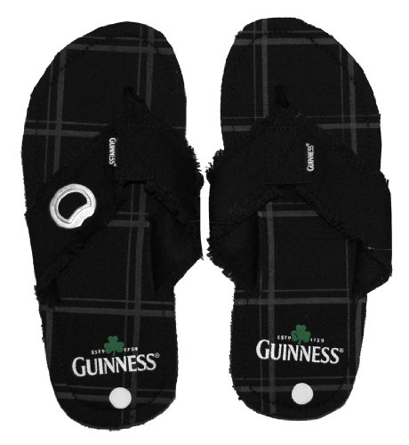 Guinness Clover Logo Beer Alcohol Bottle Opener Flip Flops Sandals front-313360