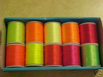 10 Spools NEON Embroidery Machine Thread HOT COLORS
