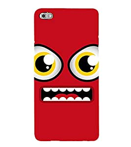 ANIMATED CARTOONISH EYES WITH A BRIGHT RED SMILING FACE 3D Hard Polycarbonate Designer Back Case Cover for Micromax Canvas Sliver 5 Q450::Micromax Canvas Silver 5