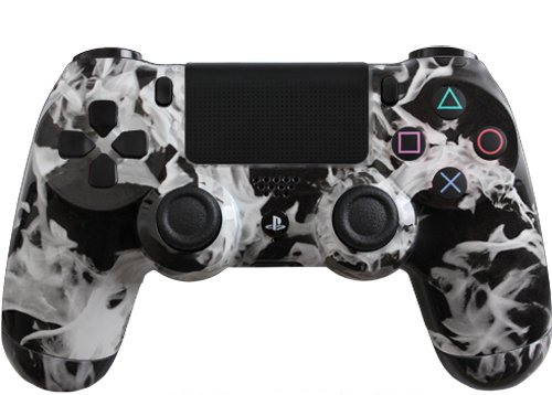 Custom Playstation 4 Controller Special Edition White Fire
