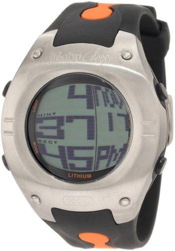 Body Glove Men's 70202 Warpt Digital Silver and Black/Orange Watch