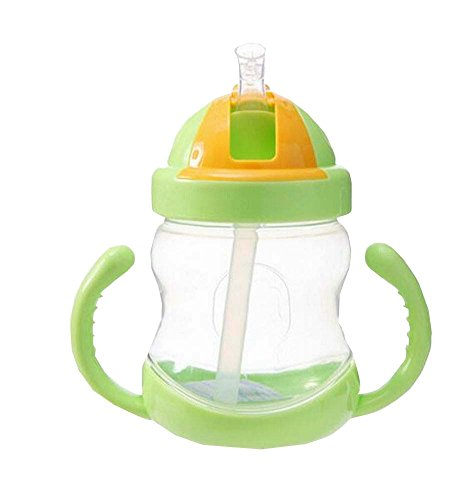 280ML-Baby-Wasserflasche-mit-Handgriff-Praktische-Kids-Trainingsflasche-Grn