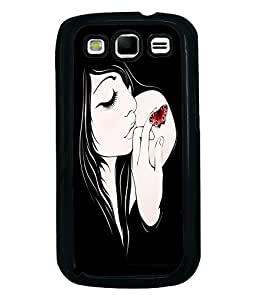 Fuson Butterfly Tatto Girl Back Case Cover for SAMSUNG GALAXY S3 - D3848
