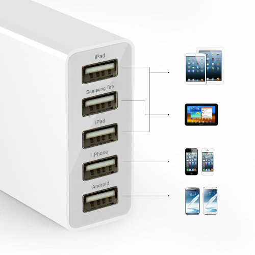 Anker 25W 5ポート USB急速充電器 ACアダプタ iPhone5C/5S/5/4S/4/iPod/iPad/Xperia/GALAXY/ウォークマン等対応