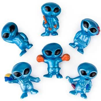 Fun Express Out-Of-This-World Vinyl Aliens Action Figure 4 Dozen FNEIN-39/1172